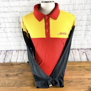 DHL Delivery Driver Uniform Red Yellow Shirt 3XL